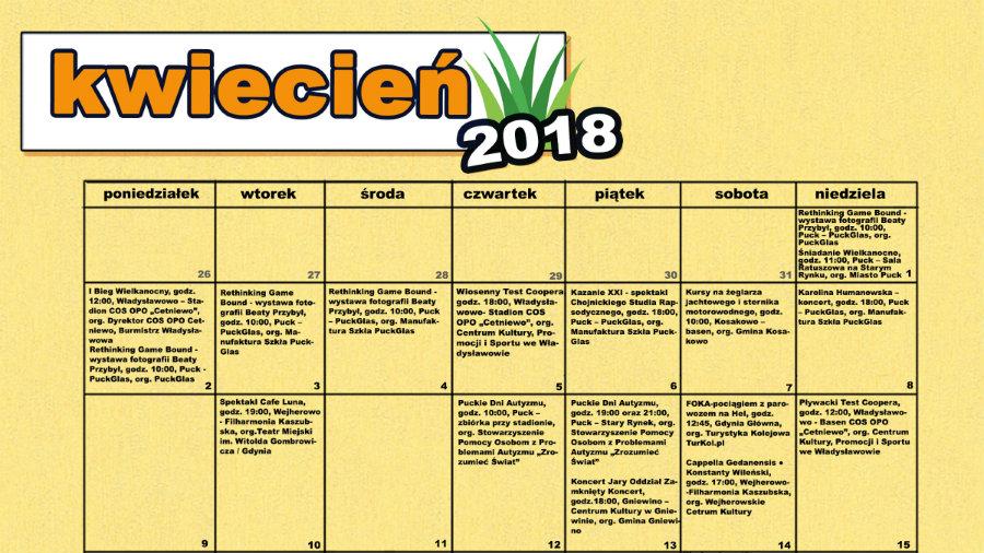 Kwietniowy kalendarz imprez